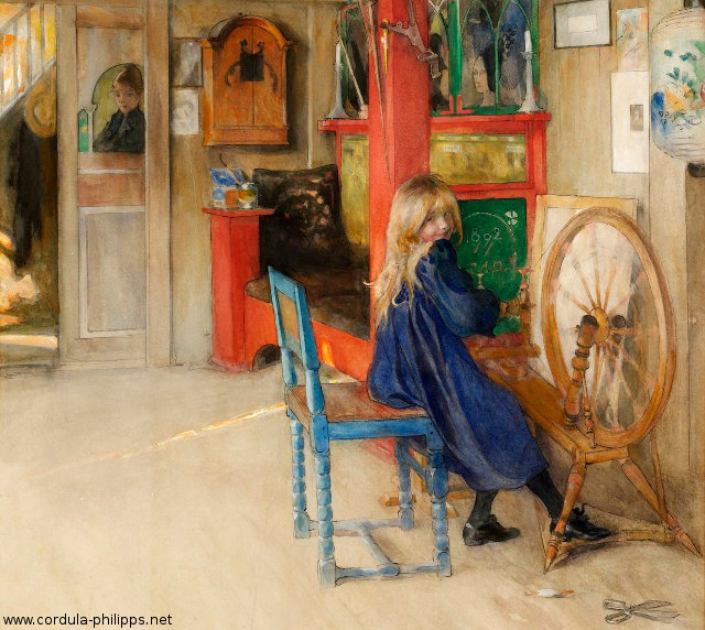 To Cordula Philipps. A little girl by Carl Larsson.